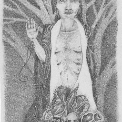 All Purpose Patron Saint. Pencil on paper. 2012.