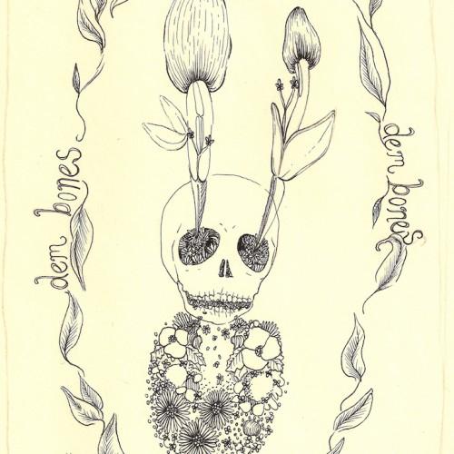 Dry Bones. pen and ink. 2012.