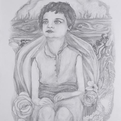 Today I Am Your Borrowed Little Girl. Pencil on paper. 2012.