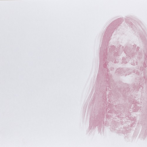 Untitled, 2014, beet pigment & charcoal on paper, 11in x 13.5in, photo by Andrew McAllister