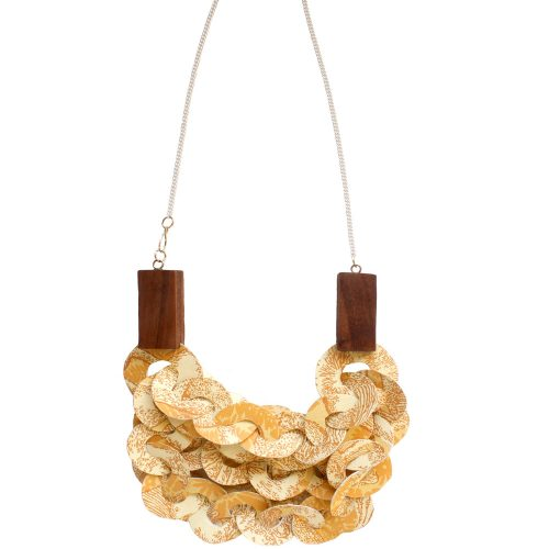 triple chain mushroom necklace resized jpg